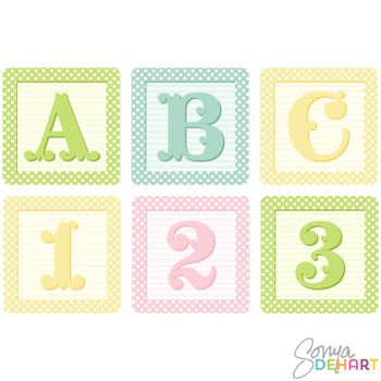 Clip Art Alphabet Blocks