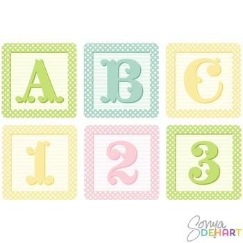 Clip Art Alphabet Blocks