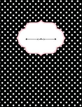 Shabby Rose Binder Covers