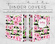 Shabby Rose Binder Covers