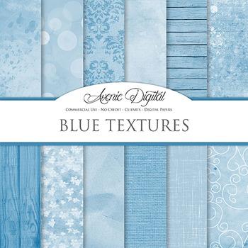 Shabby chic Blue Textures Background Digital Paper grunge scrapbook