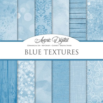 Shabby chic Blue Textures Background Digital Paper grunge