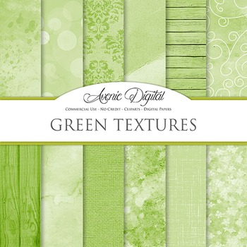 Shabby chic Green Textures Background Digital Paper scrapbook st Patrick's day