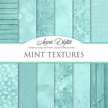 Shabby chic Mint Textures Background Digital Paper scrapbook pastel green