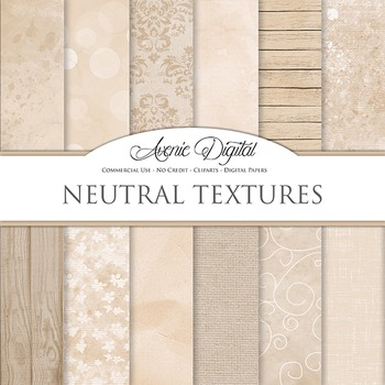 Shabby chic Neutral Textures Background Digital Paper scrapbook brown grungy