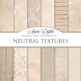 Shabby chic Neutral Textures Background Digital Paper scra