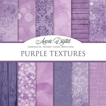 Shabby chic Purple Textures Background Digital Paper scrapbook worn grungy