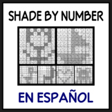 Shade by Number in Spanish (No colors needed)