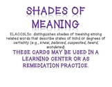 Shade of Meaning Task Card Practice Set