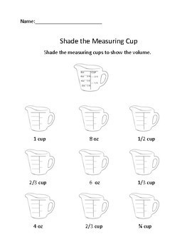 Shade the Measuring Cup - Learning Liquid Volume Measurments