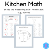 Measuring Cup Worksheet (Family and Consumer Science, FACS, FCS)