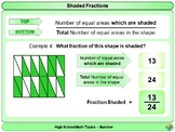 Shaded Fractions for High School Math