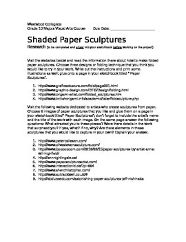 Shaded Paper Sculpture