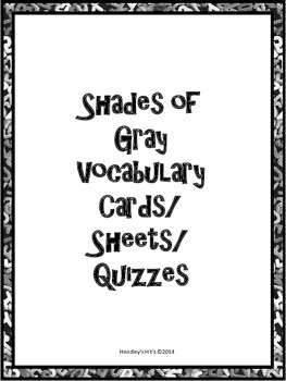 Shades Of Gray Vocabulary