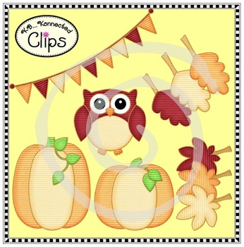 Shades of Autumn Clip Art Collection