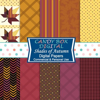 Shades of Autumn, Fall Digital Background Papers