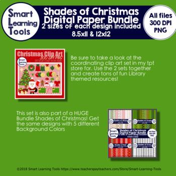 Shades of Christmas Digital Paper Bundle