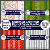Shades of Christmas Digital Paper Bundle