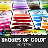 Descriptive Shades of Color Art Posters (Paint Line Design)