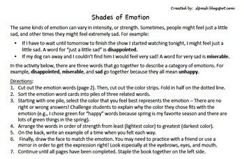 Shades of Emotion for Vocabulary and Pragmatics