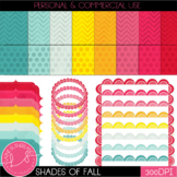 Shades of Fall Digital Paper and Accents Set