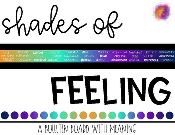 Shades of Feeling Bulletin Board
