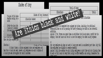 Business/Accounting - Shades of Gray Ethics Whole Class/Group Activity