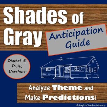Shades of Gray Novel Anticipation Guide