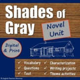 Shades of Gray Novel Unit - Save 20%!