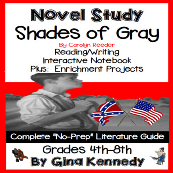Shades of Gray Novel Study & Enrichment Project Menu
