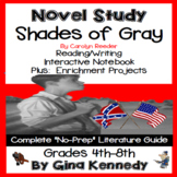 Shades of Gray Novel Study & Enrichment Project Menu