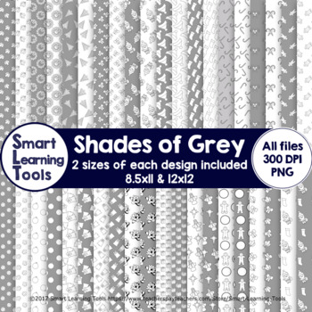 Shades of Grey Christmas Digital Papers
