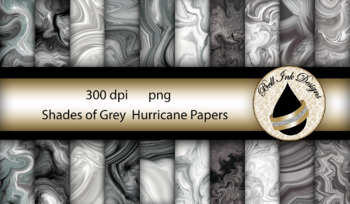 Shades of Grey Hurricane Papers Clipart