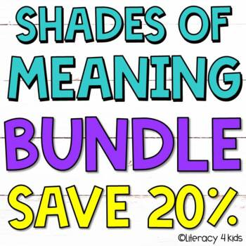 Shades of Meaning Task Cards $$$ Savings BUNDLE