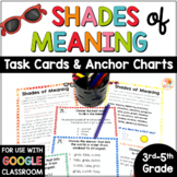 Shades of Meaning Task Cards and Anchor Charts