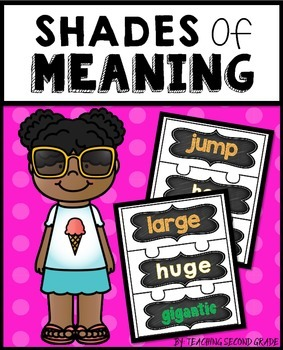 Shades of Meaning Activities | Shades of Meaning Practice