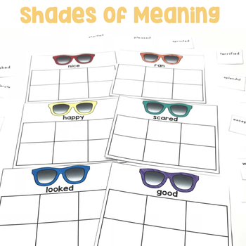 Shades of Meaning | Shades of Meaning Verbs