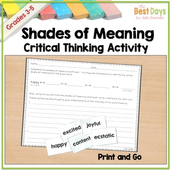 Shades of Meaning: A Critical Thinking Activity