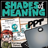 Shades of Meaning Adjective Power Point Presentation