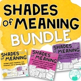 Shades of Meaning - Adjectives BUNDLE