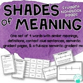 Shades of Meaning ~ Adjectives ~ Student Pages