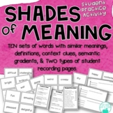 Shades of Meaning ~ Adjectives ~ Word Cards