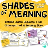 Shades of Meaning ~ Adjectives ~ Lesson & PowerPoint