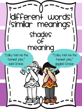Shades of Meaning Anchor Charts-Tired Words Edition