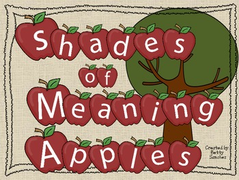 Shades of Meaning Apples (sold individually, bundled or MEGAPACK with FREE item)