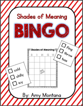 Shades of Meaning Bingo