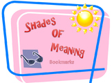 Shades of Meaning Bookmarks