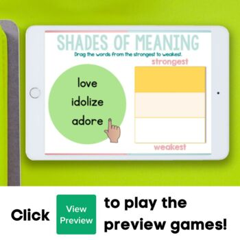Shades of Meaning Boom Cards Distance Learning