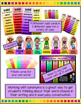 Shades of Meaning Bundle - Using Synonyms to increase Vocabulary
