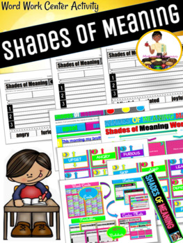 Shades of Meaning Center Activity Pack